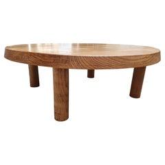 "Pierre Chapo Massive Elm Table ""Model T02"", 1970"