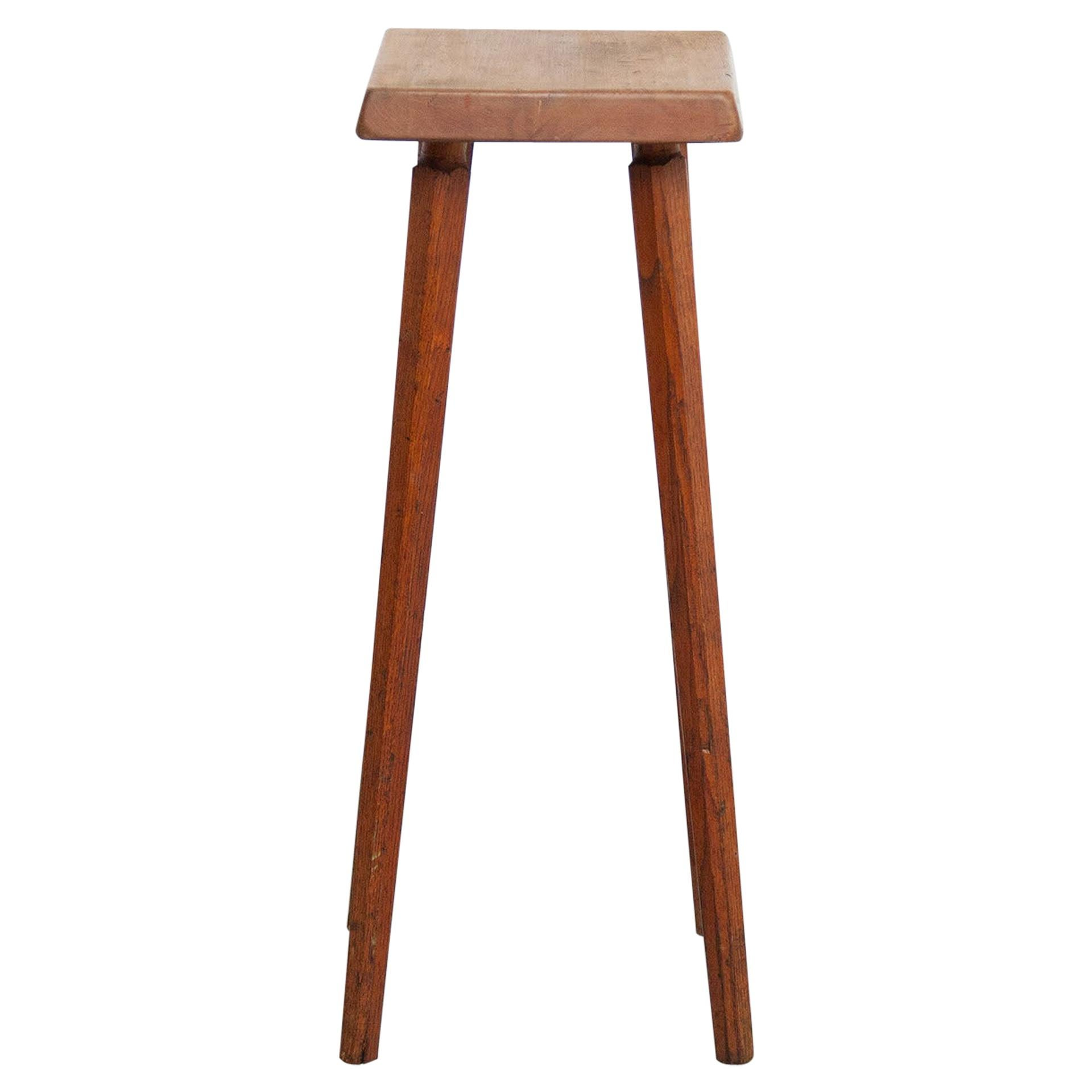 Pierre Chapo Mid-Century Modern French Wood Stool, circa 1960