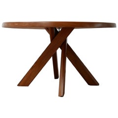 Pierre Chapo Model T21 French Elm Dining Table