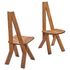 Pierre Chapo Pair of 'Chlacc' Side Chairs Model S45