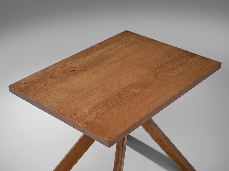 French Pierre Chapo Pair of Elm Centre Tables 'Rectangulaire Duo' T27A For Sale
