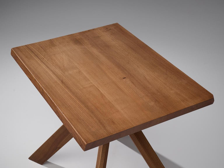 Pierre Chapo Pair of Elm Centre Tables 'Rectangulaire Duo' T27A In Good Condition For Sale In Waalwijk, NL