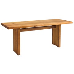Pierre Chapo Patinated Elm Dining Table T14C