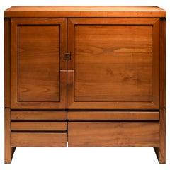 Pierre Chapo's Two-Door Five-Drawer Cabinet R18