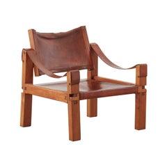 Pierre Chapo S10 Sahara armchair, France, circa 1960
