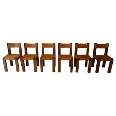 Pierre Chapo S11 Chairs Set, Produced in the 1970s