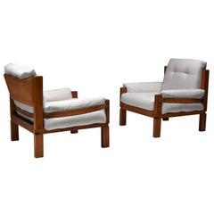 Pierre Chapo S15 Easy Chairs Bouclé