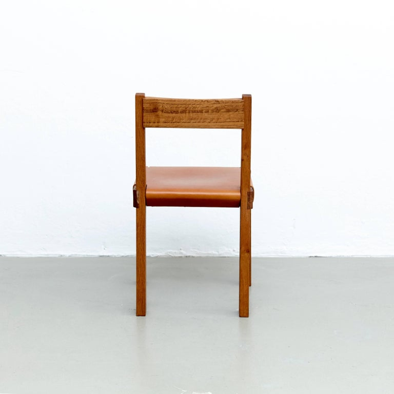 Contemporary Pierre Chapo S24 Chair For Sale