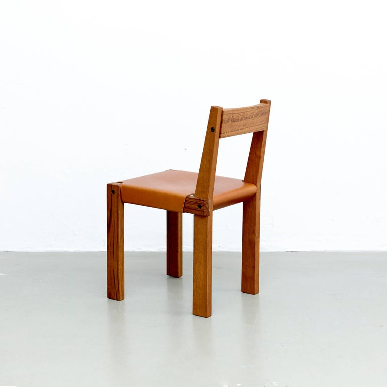 Wood Pierre Chapo S24 Chair For Sale