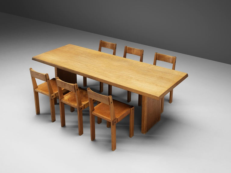 Pierre Chapo S24 Dining Chairs and 'T14D' Table 3