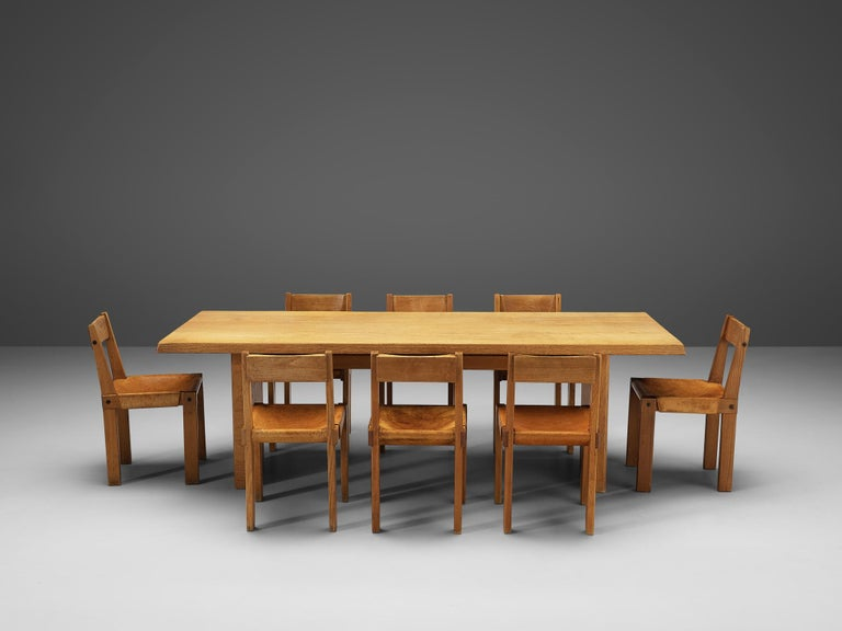 Pierre Chapo S24 Dining Chairs and 'T14D' Table 5