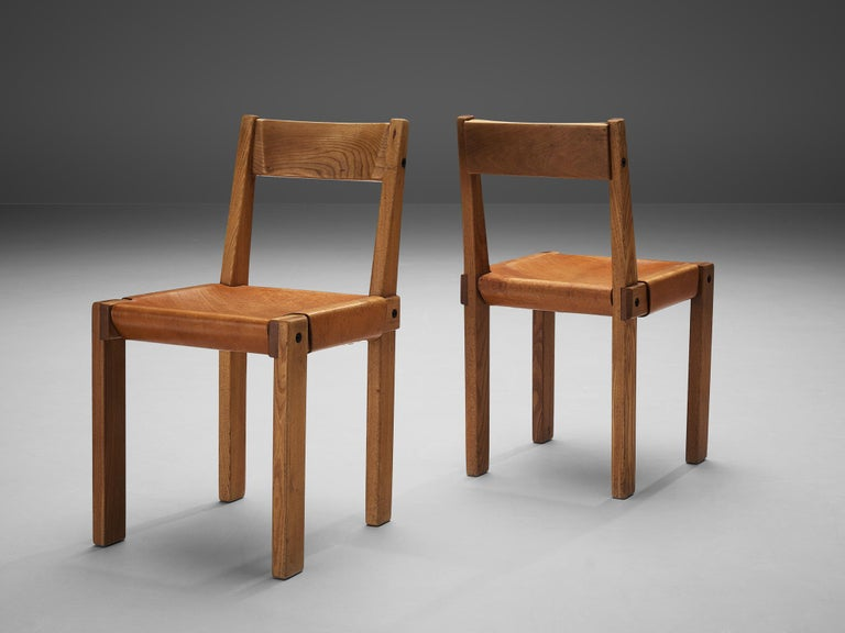 Pierre Chapo S24 Dining Chairs and 'T14D' Table 9