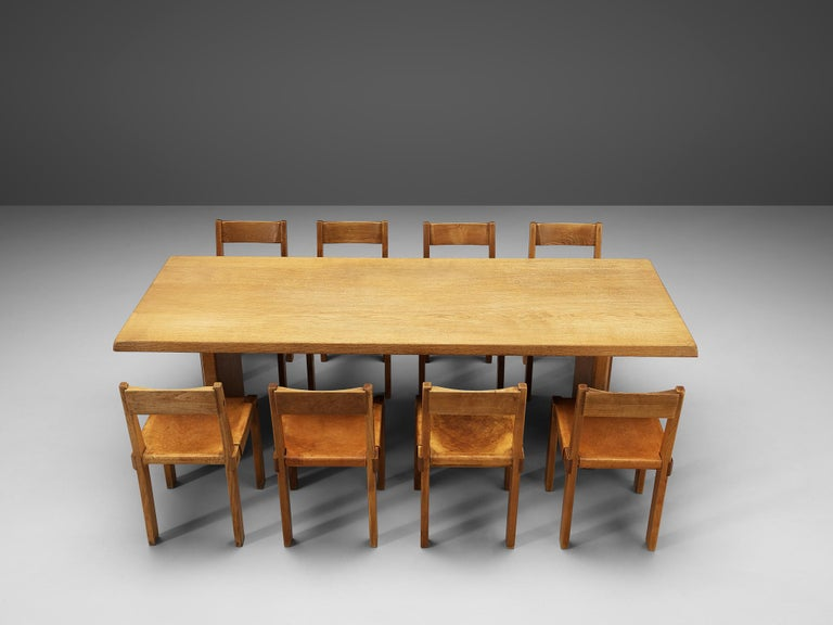 Pierre Chapo S24 Dining Chairs and 'T14D' Table 10