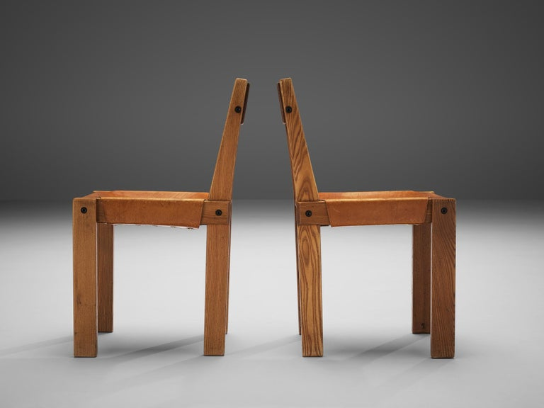 Pierre Chapo S24 Dining Chairs and 'T14D' Table 11