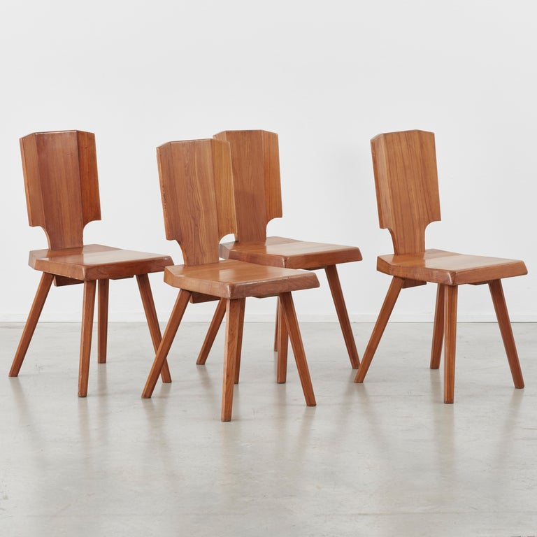 Pierre Chapo S28 Chair Chapo SA, France, 1972, 4 available For Sale 4