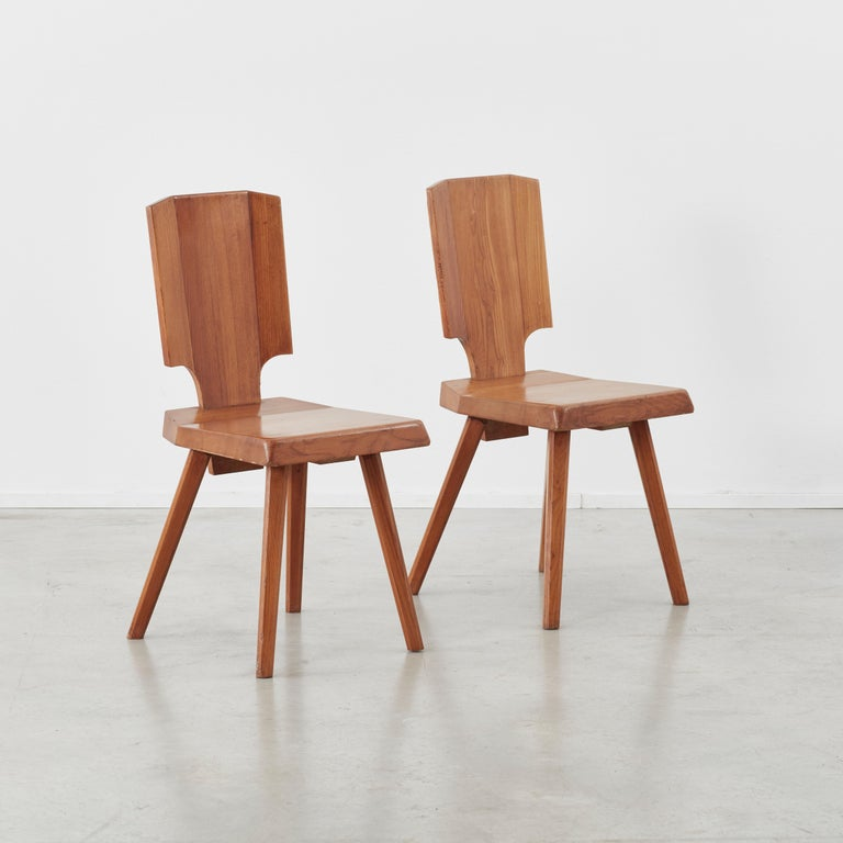 Pierre Chapo S28 Chair Chapo SA, France, 1972, 4 available For Sale 3