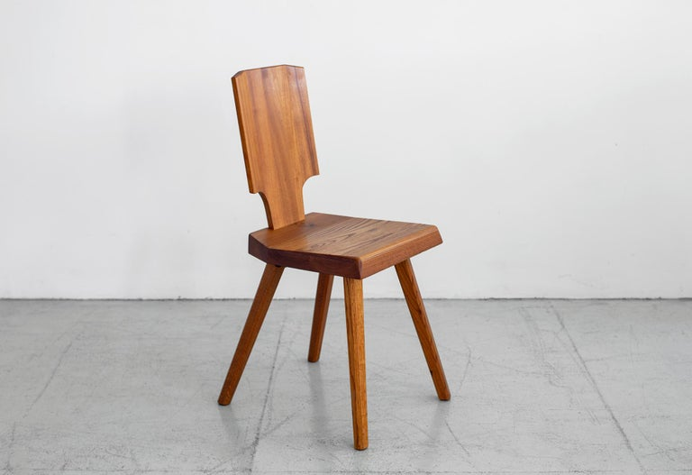 Pierre Chapo S28 Dining Chair, Set of 8 In Good Condition For Sale In Los Angeles, CA