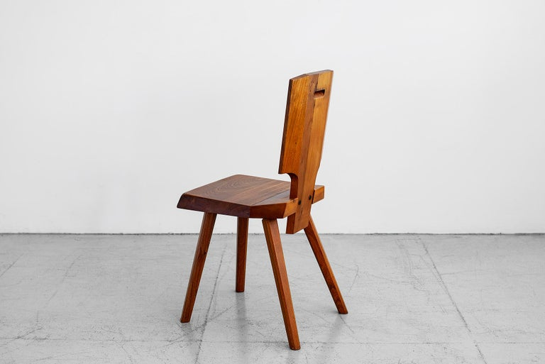 Late 20th Century Pierre Chapo S28 Dining Chair, Set of 8 For Sale