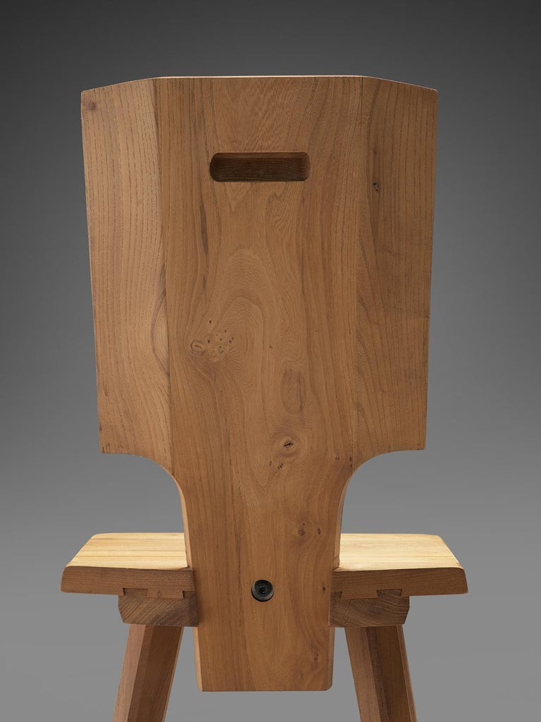 Mid-20th Century Pierre Chapo S28 Dining Chairs in Solid Elm, 1975 For Sale