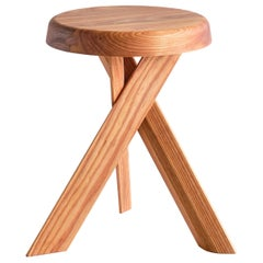 Pierre Chapo S31 Stool in Solid Elm, Chapo Creation, France