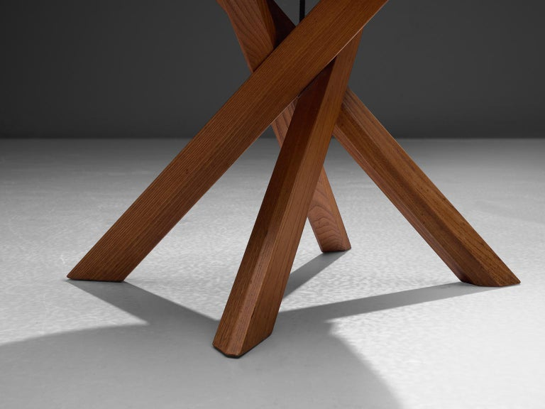 Mid-20th Century Pierre Chapo Set of Seven S34 Dining Chair in Solid Elm For Sale