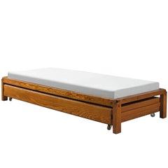 Pierre Chapo Solid Elm Bed L03, circa 1965