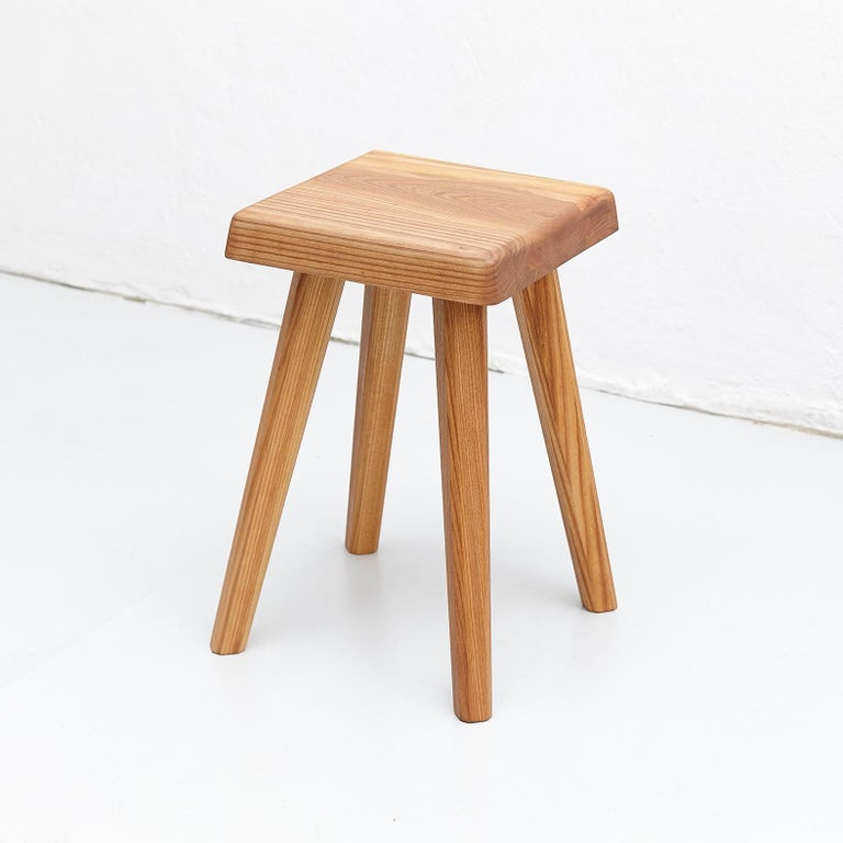 Stool designed by Pierre Chapo, manufactured in France, 2018
