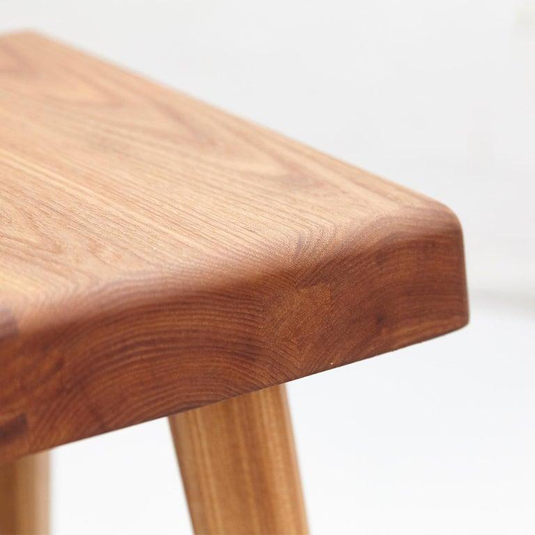 Wood Pierre Chapo Solid Elmwood Stool