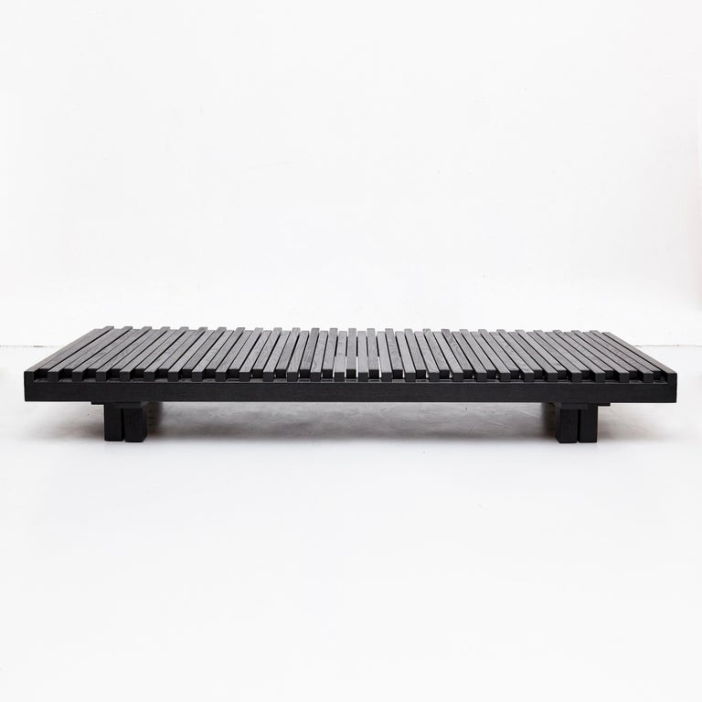 Pierre Chapo Special Black Edition Bench / Daybed L07 In Good Condition For Sale In Barcelona, Barcelona