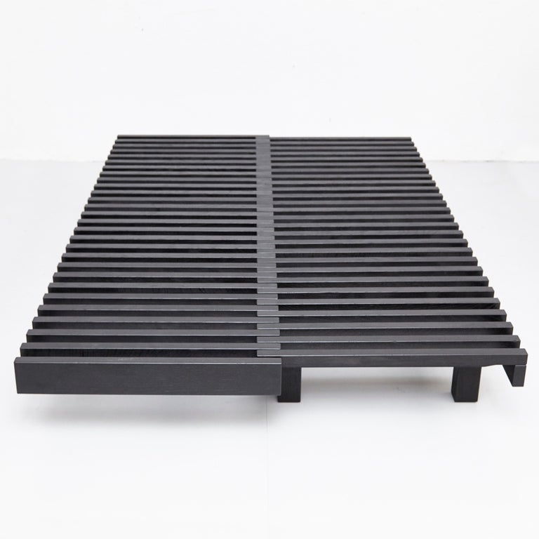 Pierre Chapo Special Black Edition Bench / Daybed L07 For Sale 2