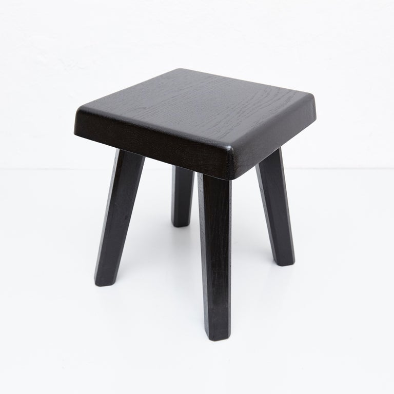 Pleasant Pierre Chapo Special Black Edition Stool Andrewgaddart Wooden Chair Designs For Living Room Andrewgaddartcom