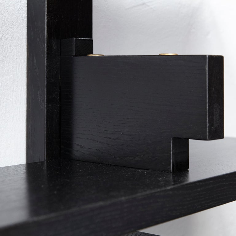 Pierre Chapo Special Black Edition Wall-Mounted Book Shelve B17 12