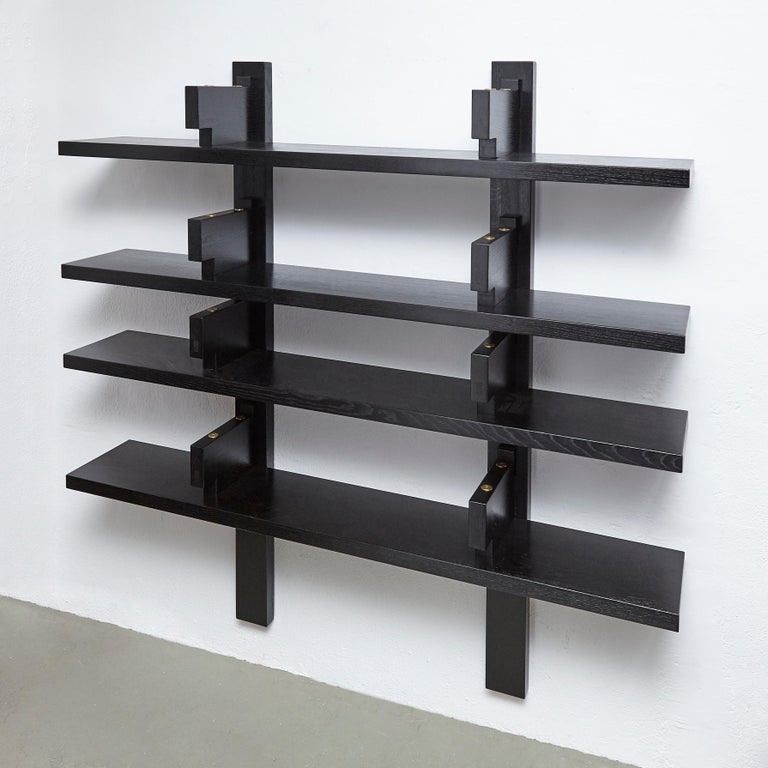 Mid-Century Modern Pierre Chapo Special Black Edition Wall-Mounted Book Shelve B17