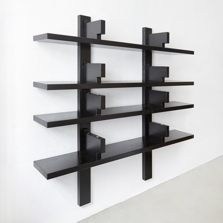French Pierre Chapo Special Black Edition Wall-Mounted Book Shelve B17