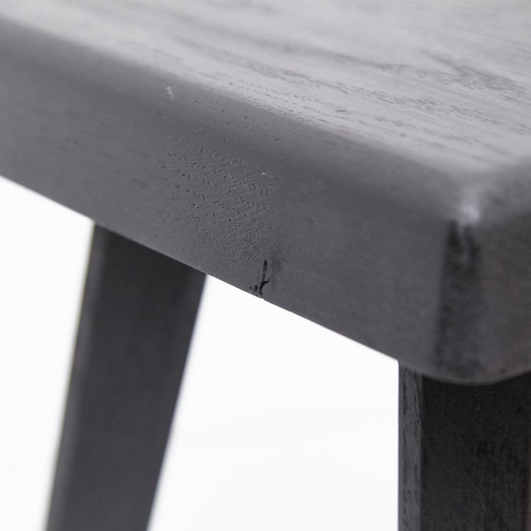 Pair of Pierre Chapo Special Black Wood Edition Stool 5