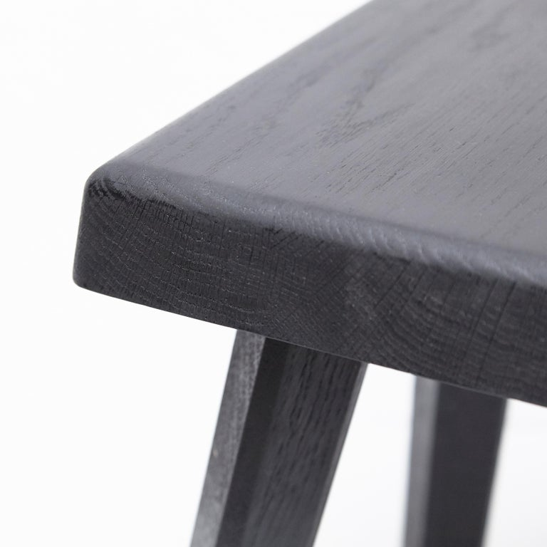 Pair of Pierre Chapo Special Black Wood Edition Stool 3