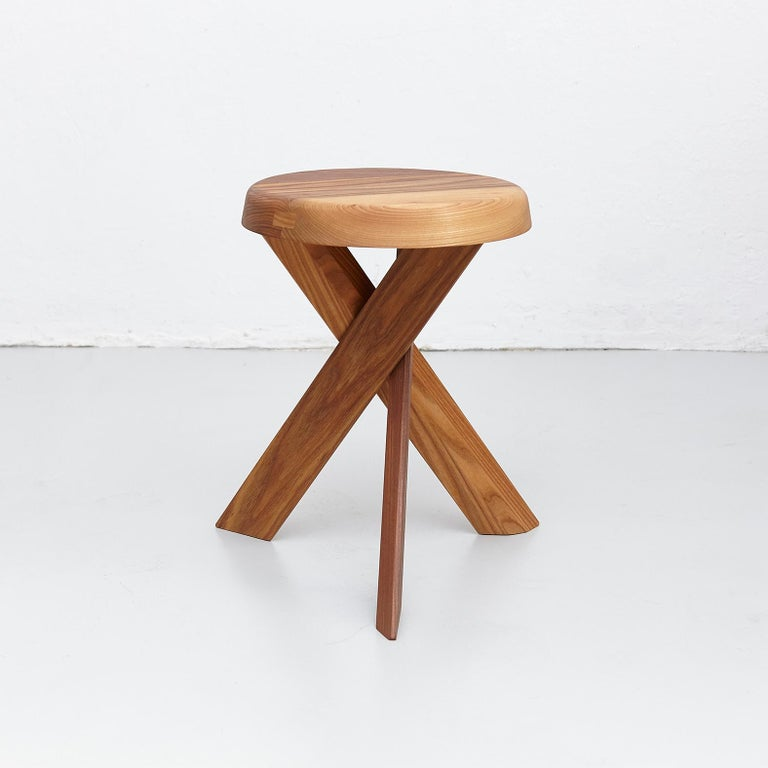 S 31 a stool designed by Pierre Chapo, circa 1960.