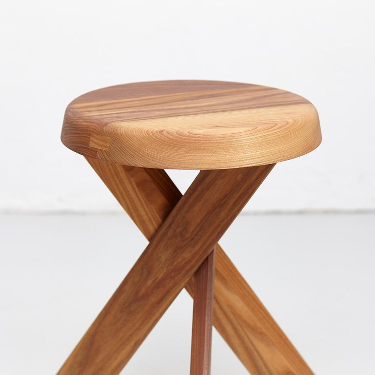 Pierre Chapo Stool S31A Solid Elmwood For Sale 2