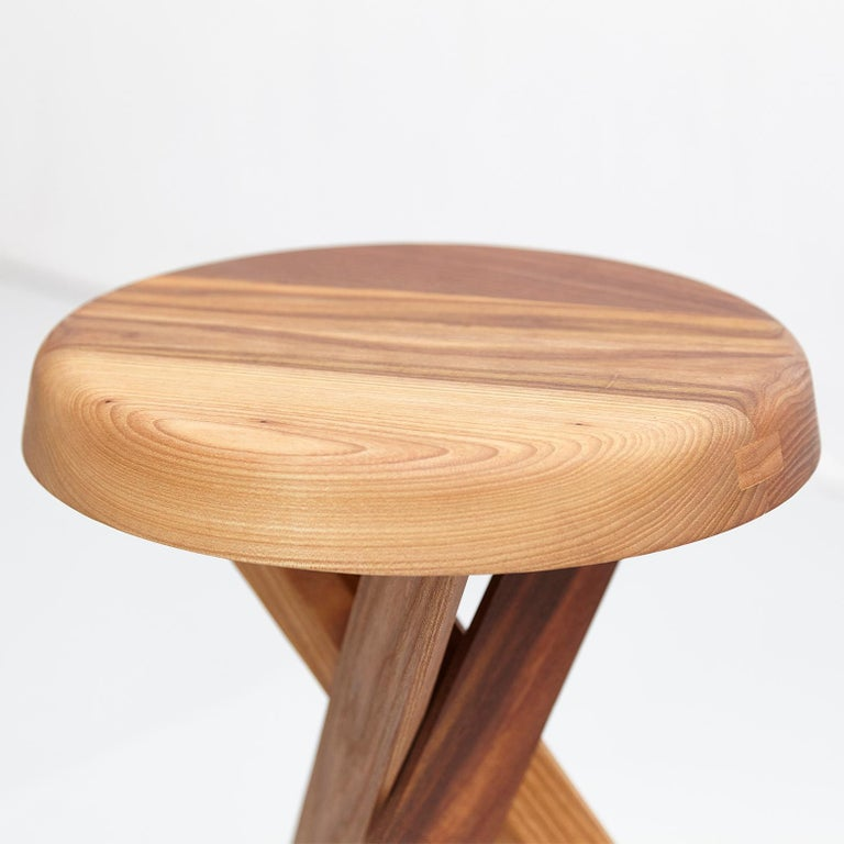 Pierre Chapo Stool S31A Solid Elmwood For Sale 3