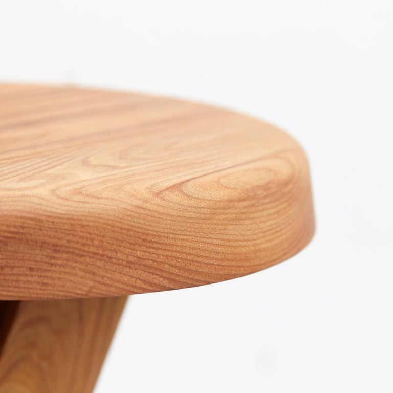 Pierre Chapo Stool S31B Elm Wood For Sale 3