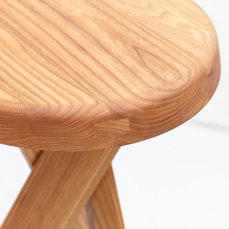 Pierre Chapo Stool S31B Elm Wood For Sale 7