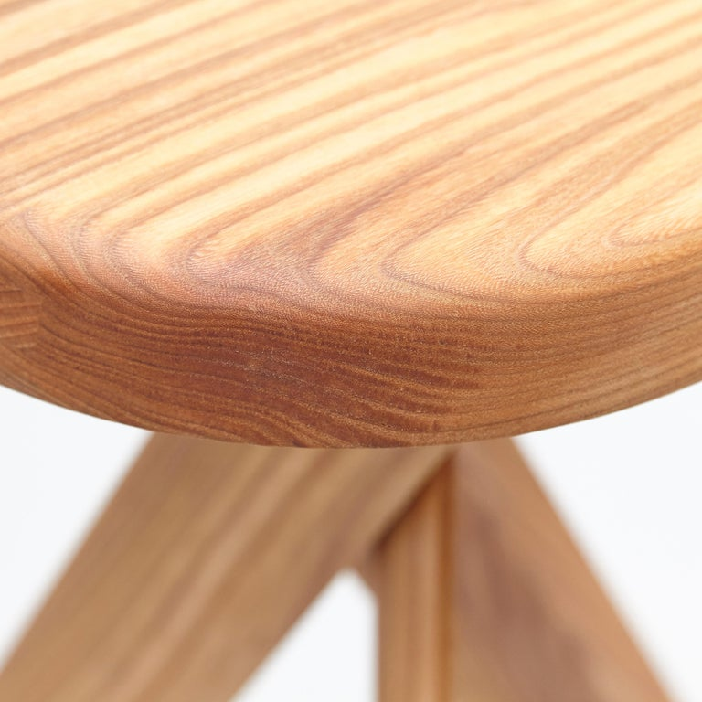 Pierre Chapo Stool S31B Elm Wood For Sale 8