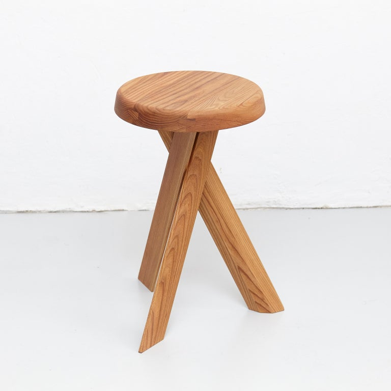 S 31 B stool designed by Pierre Chapo, circa 1960.