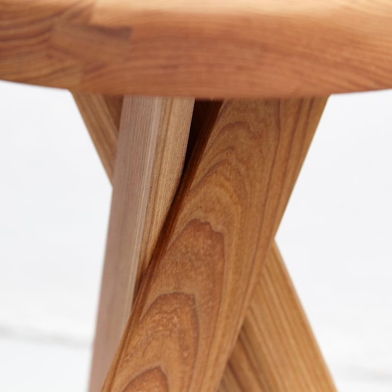 Pierre Chapo Stool S31B Elm Wood For Sale 2