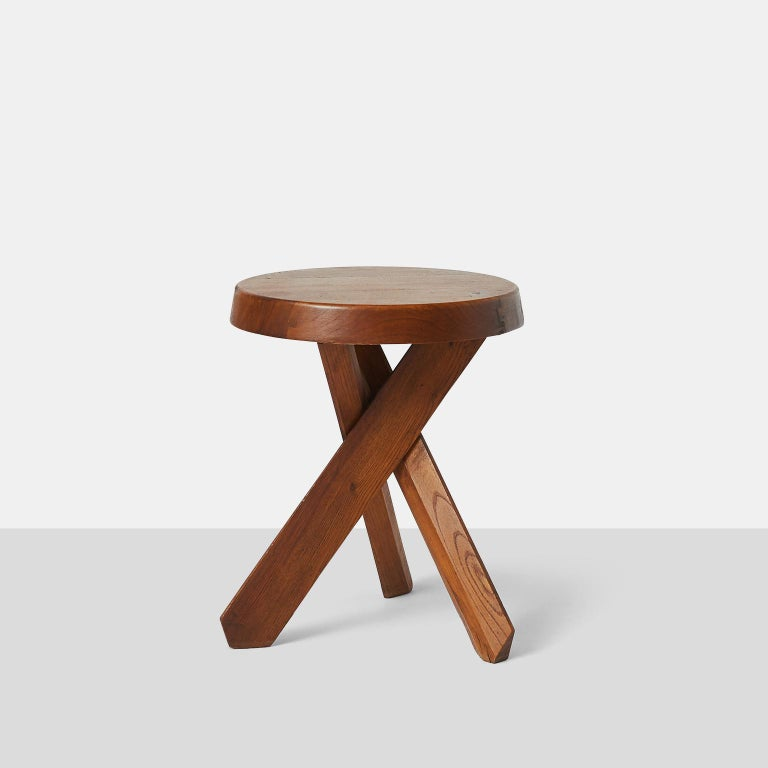 French Pierre Chapo Stools S31 For Sale