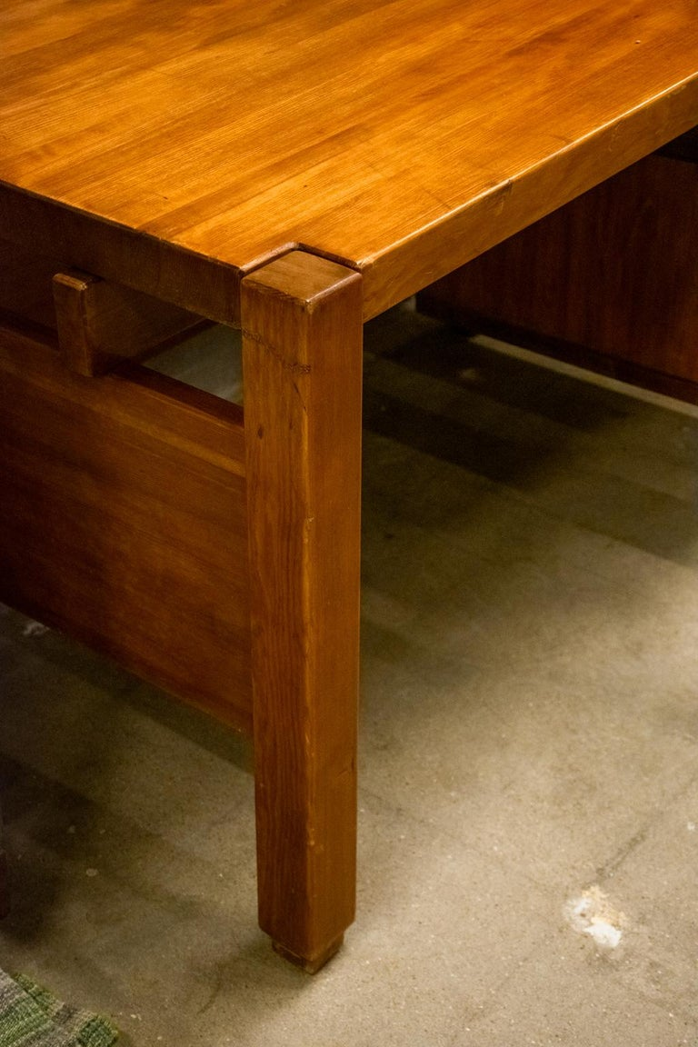 Pierre Chapo Style Desk, France, 1960s For Sale 5