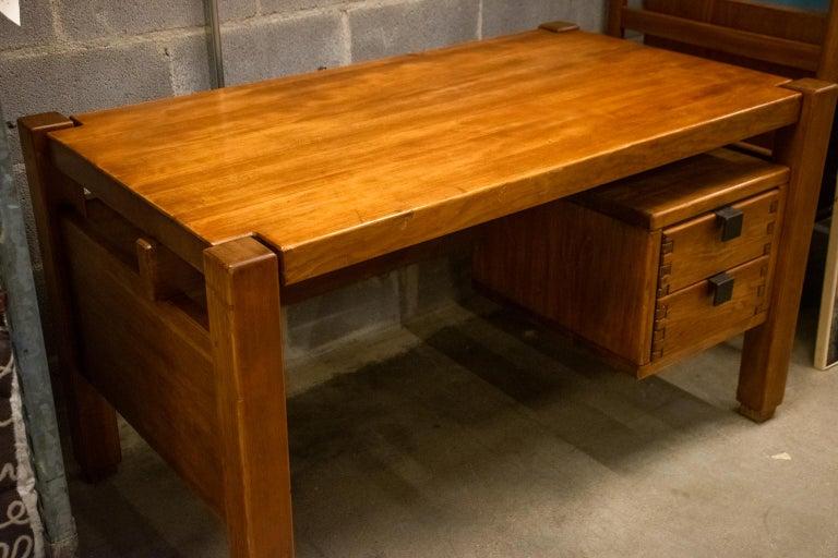 Pierre Chapo Style Desk, France, 1960s For Sale 6