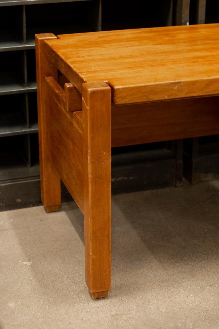 Pierre Chapo Style Desk, France, 1960s For Sale 7