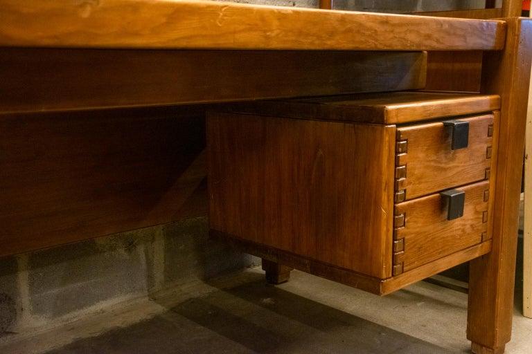 Pierre Chapo Style Desk, France, 1960s For Sale 8