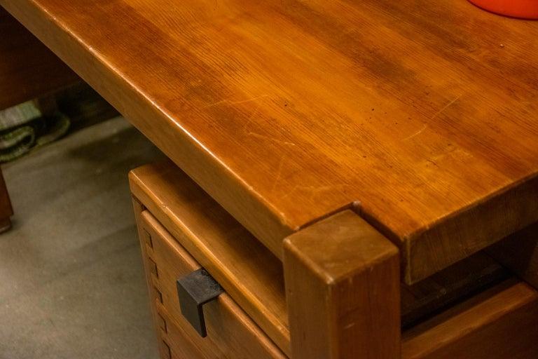 Pierre Chapo Style Desk, France, 1960s For Sale 9